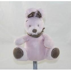 Peluche my friend Teddy rabbit NICOTOY SIMBA TOYS pink brown bandana 18 cm