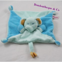 Doudou flat elephant POMMETTE Blue Intermarket 20 cm