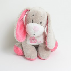 Doudou Lola koala ARTHUR and LOLA BEBISOL grey pink 25 cm