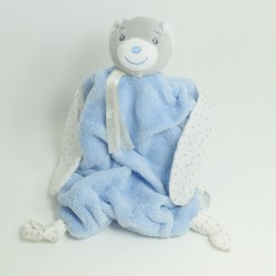 Flat Doudou Bear KALOO Sky Blue Feather 28 cm