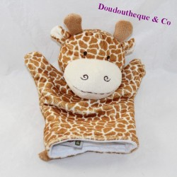 Doudou giraffe puppet NATURE PLANET spotted brown 23 cm