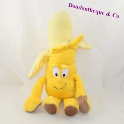Peluche banane GOODNESS GANG jaune 36 cm