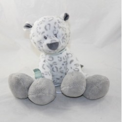Musical skin Léa leopard NATTOU snow leopard grey white blue