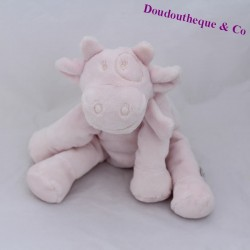 NOUKIE'S Lola powdered pink cow cub sitting 18 cm