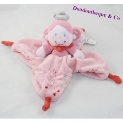 Doudou flat fairy NICOTOY pink star angel wings 26 cm