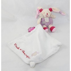 Doudou handkerchief rabbit DOUDOU AND COMPAGNIE Owl it shines luminescent purple pink