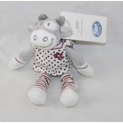 Mini peluche Lolita vache NOUKIE'S Paquito et Lolita robe à pois 16 cm