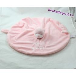 Doudou flat bear INTERDIT OF ME GRONDER round pink 48 cm