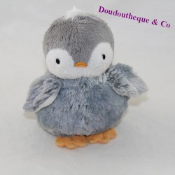 Doudou penguin KALOO Friends Gray 15 cm