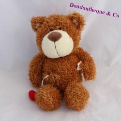 Bear bear GUND brown heart red long hairs 25 cm