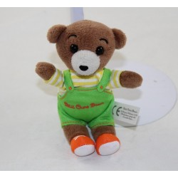Little Bear Brown BAYARD EDITIONS green overalls and yellow T-shirt 18 cm