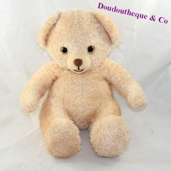 Advertising bear CAJOLINE beige bear seated 31 cm