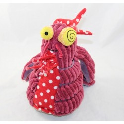 Peluche Molos Lobster LES DEGLINGOS Original purple red 20 cm