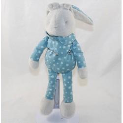 Doudou rabbit KLORANE blue grey stars 28 cm