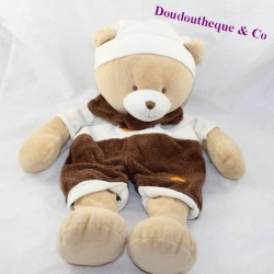 Skin pajamas range bear BABY NAT' brown 47 cm
