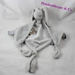 Doudou flat rabbit NATTOU Lapidou grey diamond 45 cm