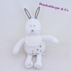 White DMC bunny with embroidered star 29 cm