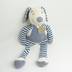 Doudou dog DOUDOU AND COMPAGNY I love my natural gray soft pad 25 cm