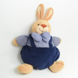 Doudou ball bear JOLLYBABY blue beige stripes strap 20 cm