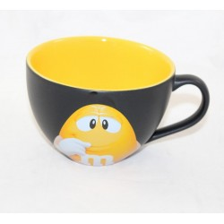 Yellow Mug M-M'S World Yellow yellow bowl and black ceramic cappuccino