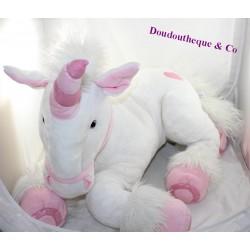 Large plush unicorn XL GIPSY white giant pink 80 cm