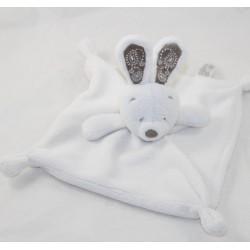 Doudou flat rabbit SIMBA TOYS white mole embroidery 22 cm