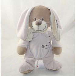 Dudy rabbit NICOTOY pink beige cross 30 cm