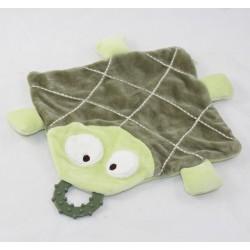 Doudou flat turtle OF PAREIL TO MEME Dpam green teething ring