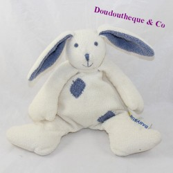 BabySUN blue white rabbit doudou 22 cm
