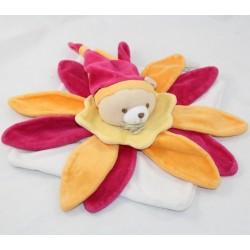Doudou flat bear DOUDOU AND COMPAGNIE petals