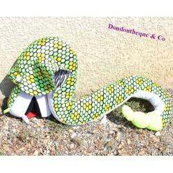 Large plush snake XXL giant green 145 cm