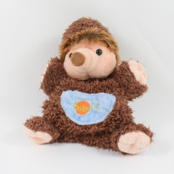 Doudou puppet hedgehog BABY NAT' brown 24 cm