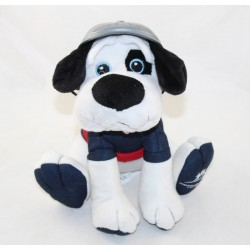 Peluche dog FONDATION BOULANGER dog firefighters blue white red 20 cm
