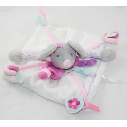Doudou flat mouse DOUDOU AND COMPAGNIE Pearly purple pink gray DC2976 15 cm