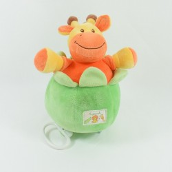 Plush lion my little tribe Kiabi green blue orange 30 cm
