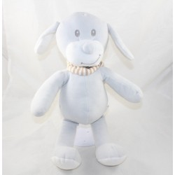 Perro peluche DOG POMMETTE gris rayas blancas rayas bufanda beige Intermarket 38 cm