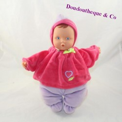 Doll Babipouce COROLLE pink purple first age 28 cm