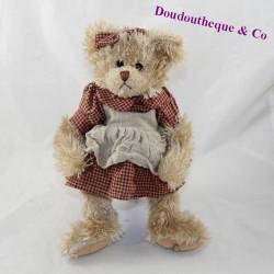 TeddyBär LOUISE MANSEN beige Kleid Schürze 26 cm