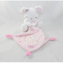 Doudou handkerchief mouse SIMBA TOYS BENELUX pink white moon star