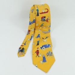 Tintin tie and ottokar scepter CITIME 100% silk