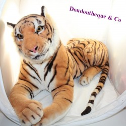 Large plush tiger UNIONS TOY'S XXL giant brown 80 cm