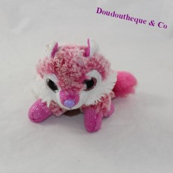 Fox cub FUNKY FRIENDS big eyes pink white 15 cm