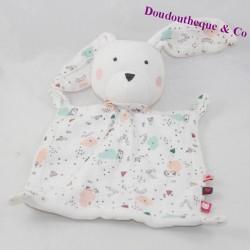 Doudou flat rabbit TAPE A OEIL Tao white lange patterns 25 cm