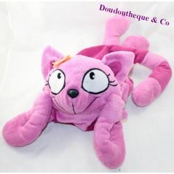 Etam cat flap range pyjamas with a purple pink hot water bottle 51 cm
