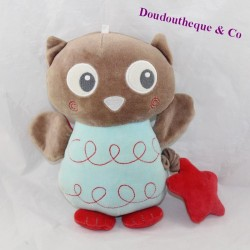 Musical owl CUBED IN PETIT Blue blue red brown star 24 cm