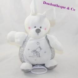 Musical rabbit SIMBA TOYS BENELUX Laline stars white grey 22 cm