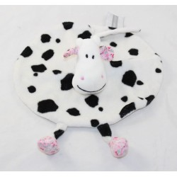 Flat cow AUBERT CONCEPT flowery black and white 25 cm