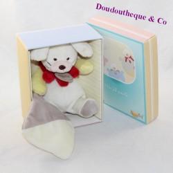 Doudou handkerchief rabbit BABY NAT Pantin beige grey BN295 16 cm
