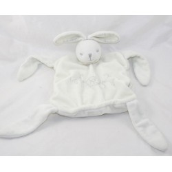 Doudou flat rabbit KALOO White pearl creme 24 cm