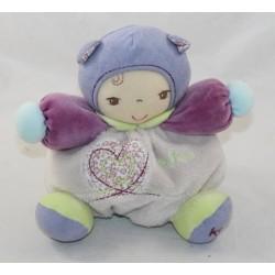 Doudou baby KALOO Chubby Baby purple purple heart 18 cm